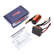 3660 4300Kv Motor sin escobillas Sensorless con 80A Esc para 1/10 Rc ralling Car(China)