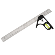 Pohiks 1pc Adjustable Engineers Combination Try Square Set Right Angle Ruler Measuring Ruler Home School Supplies 300mm 12 inch 300mm adjustable sliding combination square ruler