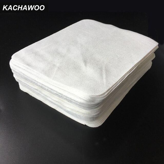 Kachawoo 100 шт белый Цвет море остров ткань из микроволокна тряпочка для чистки очков замши салфетка для протирки очков аксессуары