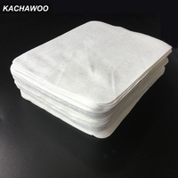 Kachawoo 100pcs White Color Sea Island Microfiber Cloth Glasses Cleaning Cloth Suede Lens Cleaning Wipes Accessories