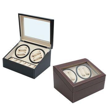 Из искусственной кожи автоматическая 4 + 6 часы намотки ротатор чехол для хранения Дисплей Box Организатор Silent соковыжималка вращения все асп...