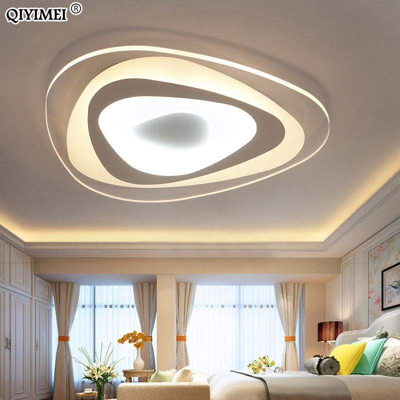 Ultrathin Triangle Ceiling Lights lamps for living room bedroom lustres de sala home Dec LED Chandelier ceiling