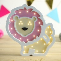 Nordic Night Lamp Cute Cartoon Lion Table Light Battery Cartoon Bedside Lamp New Year Boys And Girls Room Decoration Gift Hot