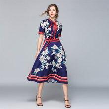 Женское Повседневное платье рубашка дизайнерское подиумное винтажное
