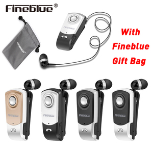 Business Bluetooth V4.0 earphone FineBlue F960 with portable bag suit Wireless Driver with Mic Headphone Call Vibration Remind