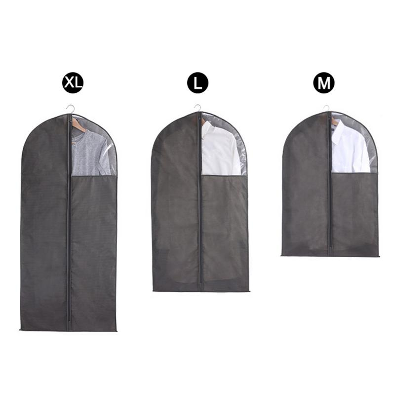 Clothes Dust Cover With Zipper Storage Bag Garment Protector Suit Case Shirts Trousers Tops Jumpers Costume Organizer Non-woven