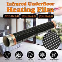 2M~6M 50CM Underfloor Electric Heating Warm Film Kit Under Laminate/Solid Floor Far Infrared Electric Floor Heating Films