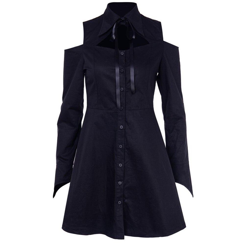 906d5eef8d1 Rosetic гот для женщин Мини платья Готический Элегантный шик черный уличная  нагрудные обычная кнопка без бретелек Женский в стиле панк коротко.