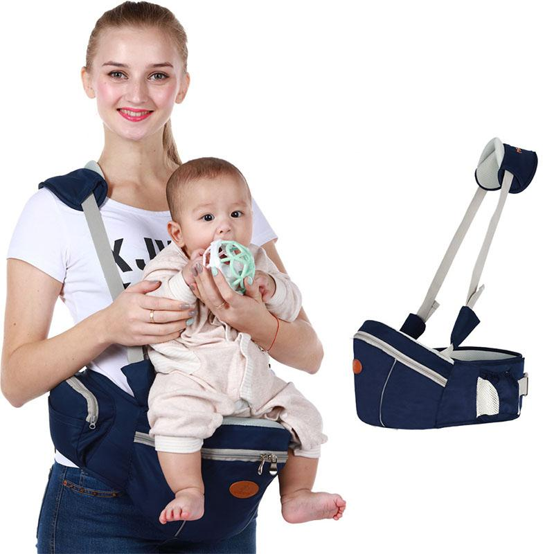 Kidlove Multifunctional Double Pocket Strap Waist Stool Hip Seat For Baby Infant