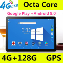 Купить с кэшбэком 10 inch tablet pc Octa Core 3G 4G LTE Tablets Android 8.0 RAM 4GB ROM 128GB Dual SIM Bluetooth GPS Tablets 10.1 inch tablet pcs