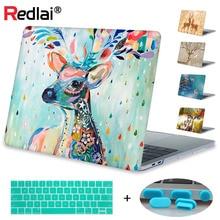 Redlai Milu Deer Print Hard Case Cover For MacBook Air Pro Retina 11 12 13 15 Laptop Case For Mac book Pro 13 15 Touch Bar A2159 недорого