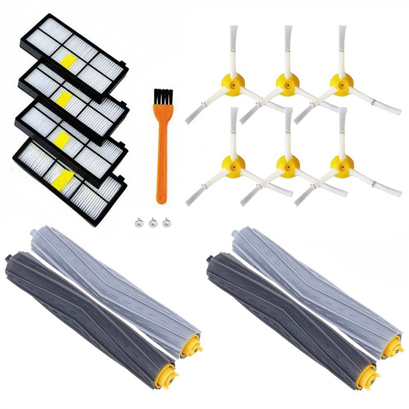 15Pc High Quality Tangle-Free Debris Extractor & Hepa filter & Debris Rollers brush for iRobot Roomba 800 900 Series 870 880 98015Pc High Quality Tangle-Free Debris Extractor & Hepa filter & Debris Rollers brush for iRobot Roomba 800 900 Series 870 880 980