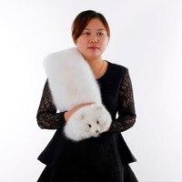 Зимний натуральный Лисий мех воротник Лисий Мех Шарфы Женские теплые мягкие Модные Элегантные натуральный Лисий мех шарф
