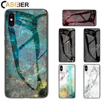 CASEIER Luxury Glass Marble Case For Huawei P30 P20 Pro Full Fitted Mate 20 10 20X Honor 8X Coque Funda Cover