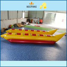 6 person seat inflatable flying fish banana boat, inflatable flying fish/ocean drag forward game, with an air pump цена в Москве и Питере
