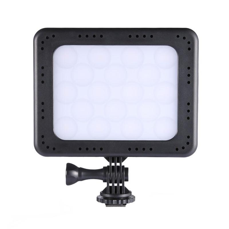 ZF-C18 18 LED lumière vidéo sur l'appareil Photo Dimmable 12 blanc + 6RGB LED lampe d'éclairage Photo pour caméscope DSLR