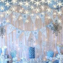 hot deal buy 3d card paper white snowflake ornaments christmas garland holiday festival party home decor holiday party home paper decor a40