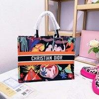 Brand Canvas Handbags Letter Shoulder Bag Large Capacity A4578