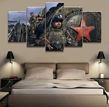 Home Decor Poster HD Pictures Prints Canvas 5 Piece Modular metro exodus Game Living Room Art Decorative Painting Framed