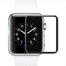 ソフト強化ガラスフィルム耐久性プロテクターアンチフィンガープリント HD タッチスクリーンパッチタイプ前膜 Apple の時計シリーズ