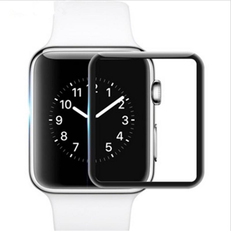 Soft Toughened Glass Film Durable Protector Anti fingerprint HD Touch Screen Patch Type Anterior Membrane For Apple Watch Series-in Screen Protectors from Consumer Electronics