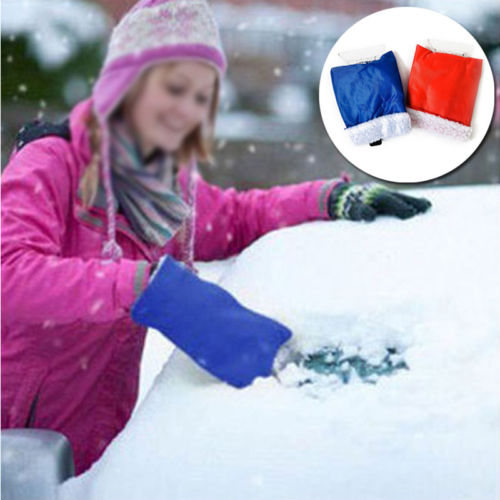 Car Cleaning Snow Shovel Car Snow Scraper Removal Gloves Ice Defrosting Deicing Handheld Clean Tool Ice Scraper