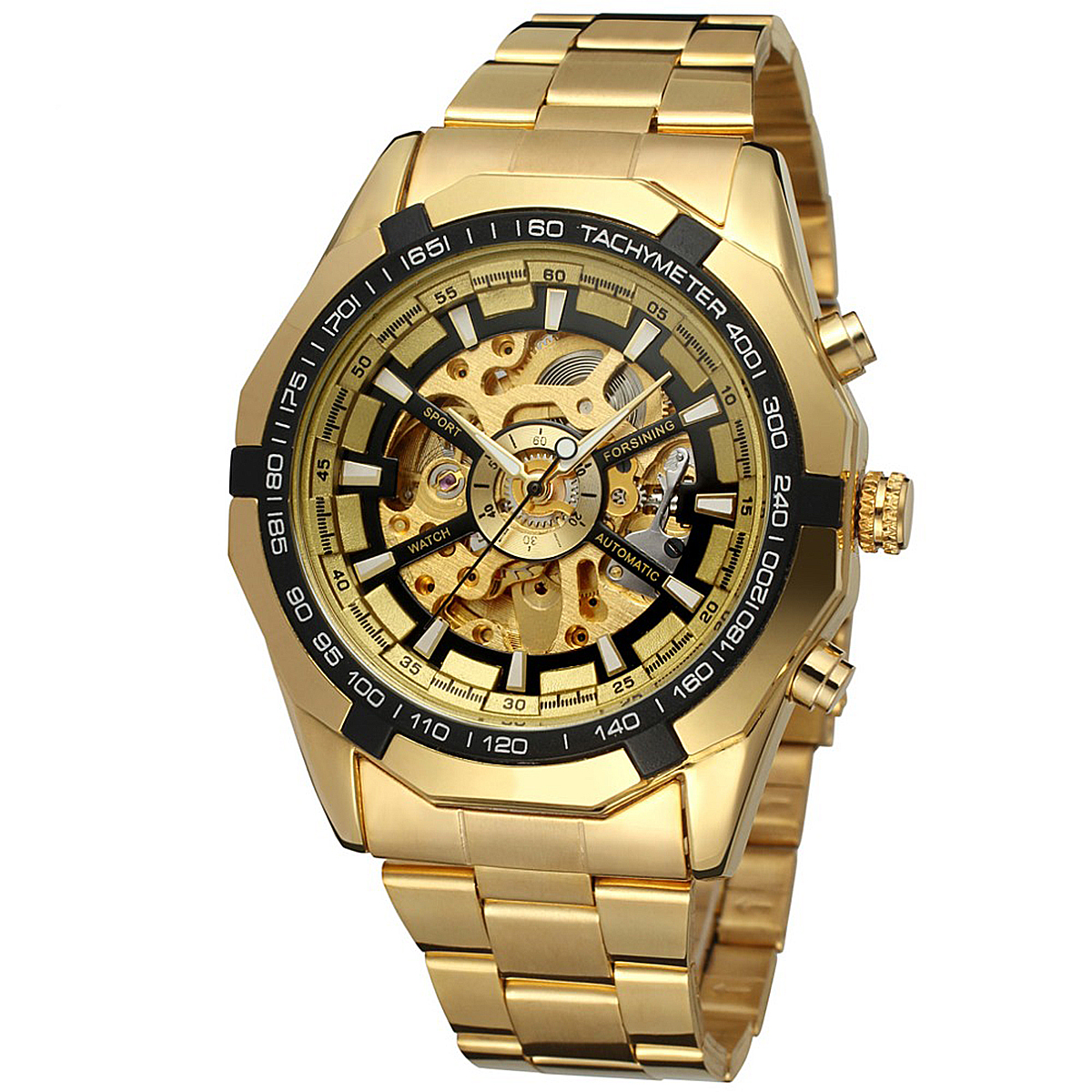 Shellhard Cool Men Winner Mechanical Watch 8 Colors Sports Stainless Steel Automatic Mechanical Analog Wrist Watches For Male цена и фото