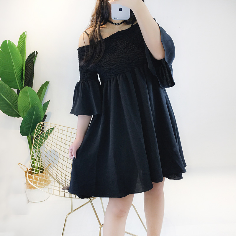 2019 Summer new maternity strapless shirts solid color pregnant women stretched high waist cotton blouses sweet  pregnancy dress look embarazada verano 2019