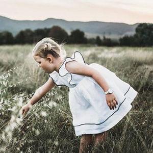 Pudcoco White Dress for Baby Girls Toddler Kid Baby Girl Clothing Ruffle Dresses Party Princess Tutu Dress Summer(China)