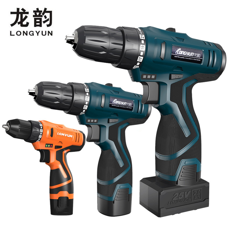 Tools Lower Price with Longyun New 12v 16.8v Electric Screwdriver Rechargeable Lithium Battery Home Diy 25v Cordless Screwdriver Electric Drill Driver Electric Screwdrivers