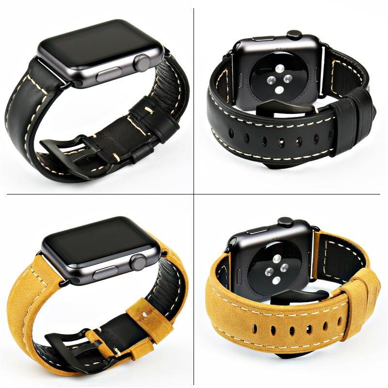 MAIKES äkta läder 44mm 40mm För Apple klocka band armband för - Tillbehör klockor - Foto 3