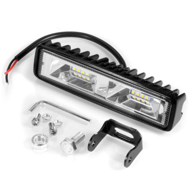 18W <font><b>16</b></font> <font><b>LED</b></font> 6000K Car SUV Flood Beam <font><b>Work</b></font> <font><b>Light</b></font> Driving Fog Aluminum Lamp Bar Brand New And High Quality part fits for most cars image