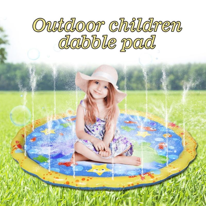 Thicken Beach Sand Toys Funny PVC Water Spray Pad Inflatable Outdoors Toys Lawn Outdoor Play Water Spraying Cushion