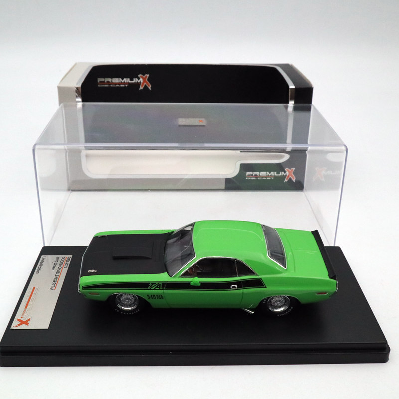 IXO Premium X 1 43 DODGE Challenger T A 1970 Green PRD407J Limited Edition Collection