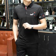 2019 Top England Style Summer Brand Polo Shirt Men Lapels Solid Mens Business Luxury High Quality Cotton Short Sleeve Slim