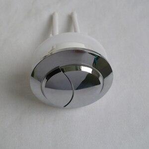 Image 2 - Depósito de agua para inodoro de 38/48/58mm con doble botón de descarga, 2 varillas de ABS de 70mm con forma de media luna, botón de 114mm para cubierta de Depósito