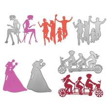 Couple Cutting Dies Wedding Metal Cutting Dies Stencils for DIY Scrapbooking Album Stamp Paper Card Embossing(China)