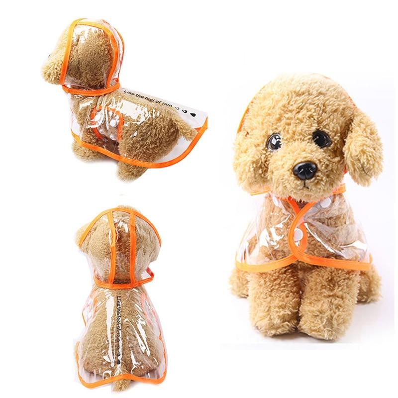 1 Pz Pvc Animali Domestici Trasparente Impermeabile Outwear Vestiti Cucciolo Con Cappuccio Impermeabili Cane Di Animale Domestico Di Luce Pratico Impermeabile Di Trasporto Di Goccia