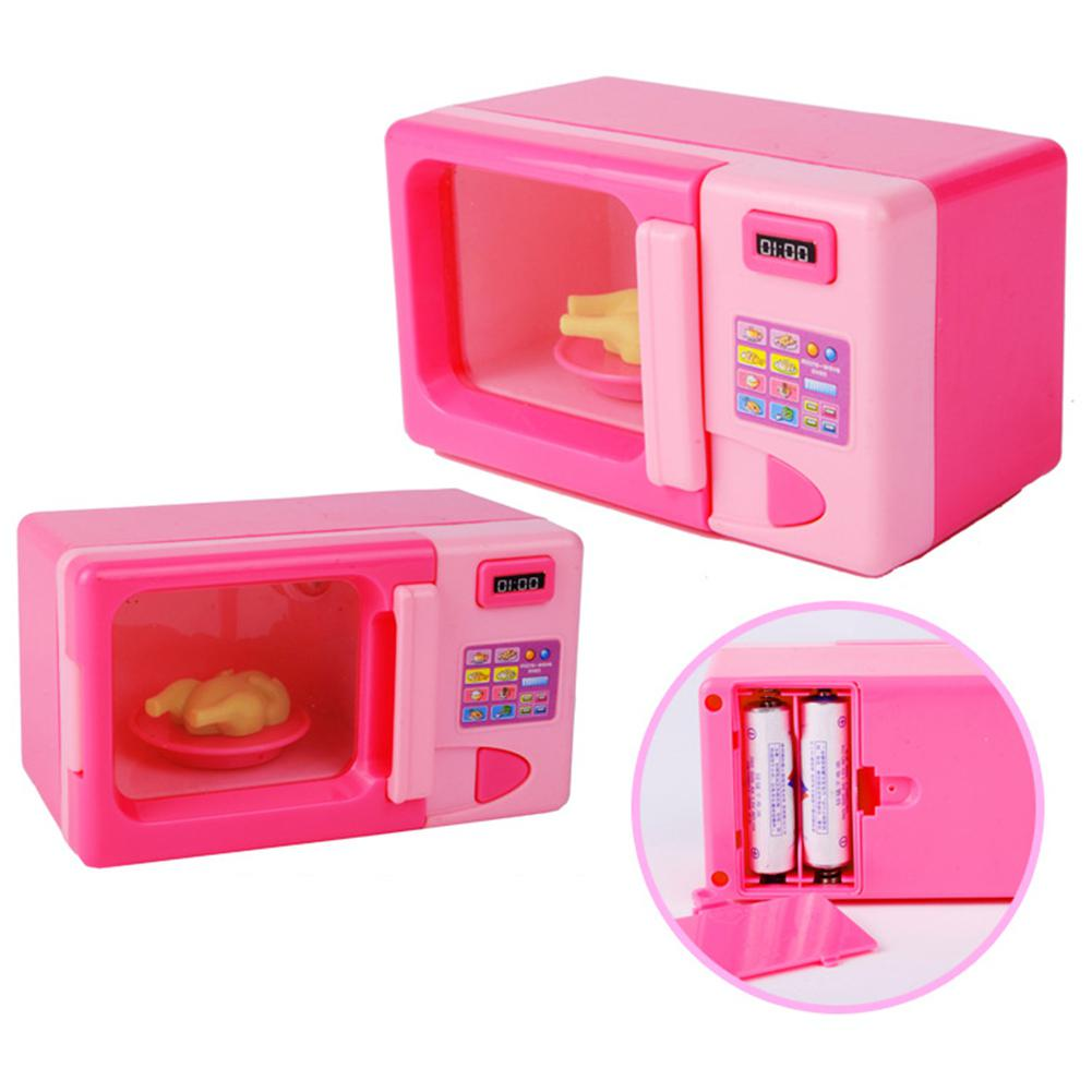 RCtown Kids Simulation Kitchen Microwave Oven Toy Kit Play House Game Educational Puzzle Toy Gift
