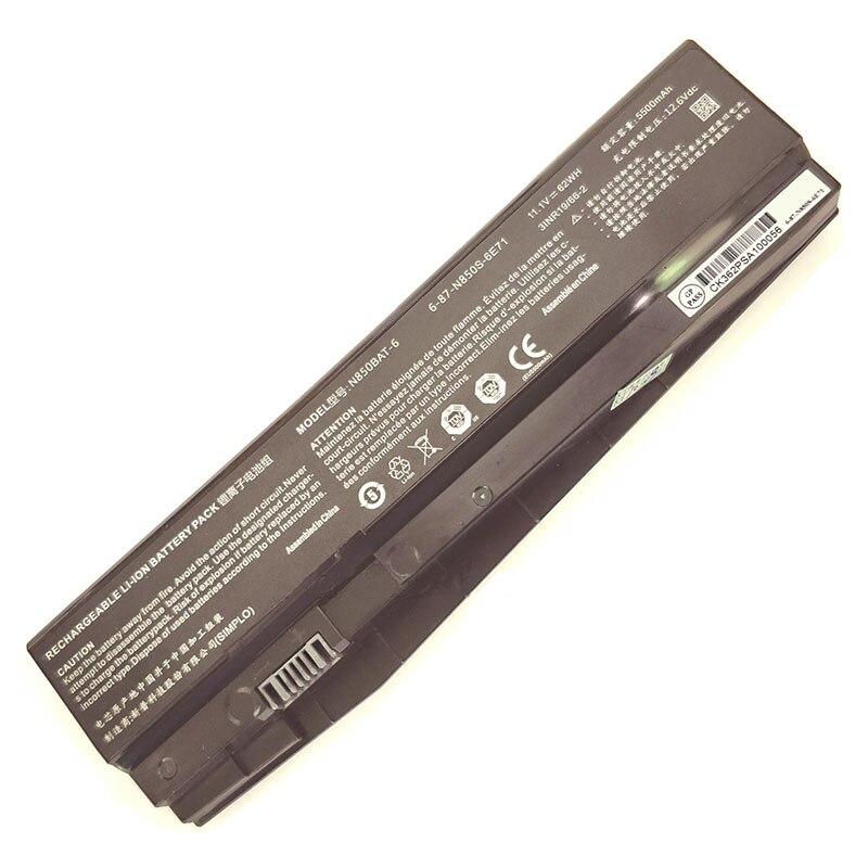 Image 2 - 6 87 N850S 6U7 6 87 N850S 6E7 N850BAT 6 batería para Schenker tecnologías XMG A517 para CLEVO N850HC N850HJ N850HJ1 N850HK1Baterías para ordenador portátil   -