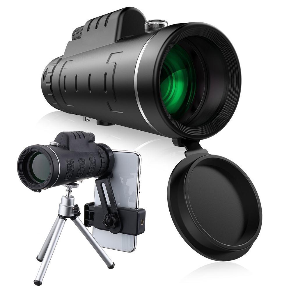 40X60 HD Monoculaire Télescope de Vision Nocturne Prism Portée Avec Téléphone Clip Trépied pour Voyage En Plein Air