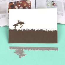DUOFEN METAL CUTTING DIES 050319 stork couple embossing stencil DIY Scrapbook Paper Album 2018 new