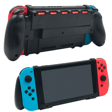 Nintend Switch Grip Case with 5 Game Cards Storage Ergonomic Gaming Goplay Hand Grip Accessories Especially for Big Hands