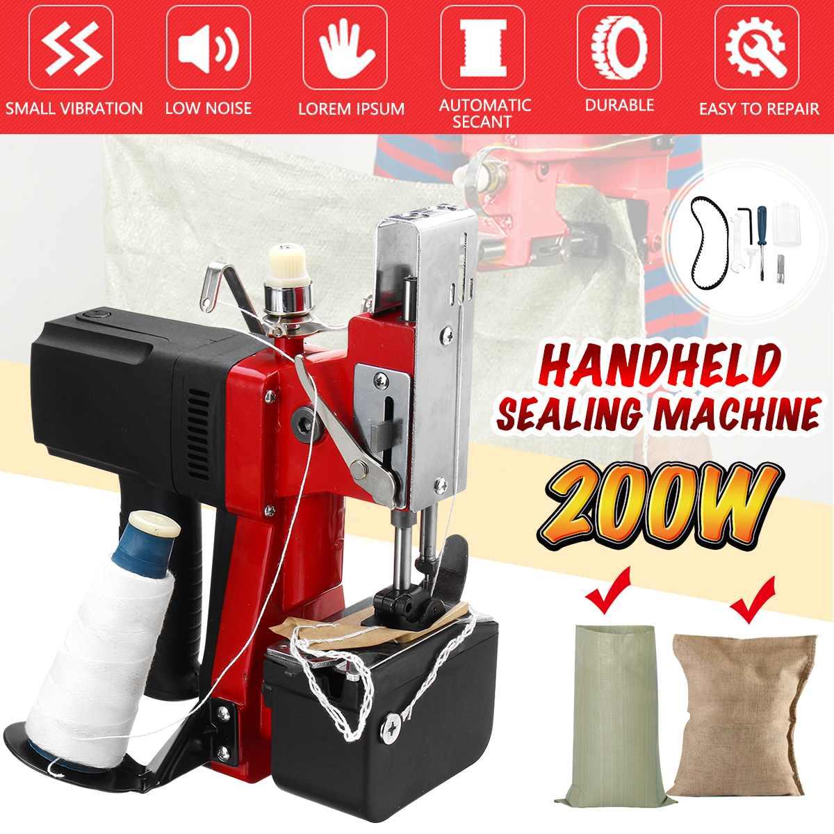 Sac tenu dans la main électrique de Textile à la maison industriel de 220 V cousant la Machine de cachetage de couture de joint plus étroit Machine à coudre électrique portative