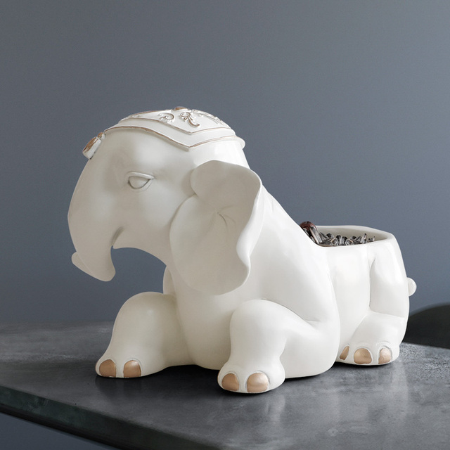 Elephant figurine storage/holder