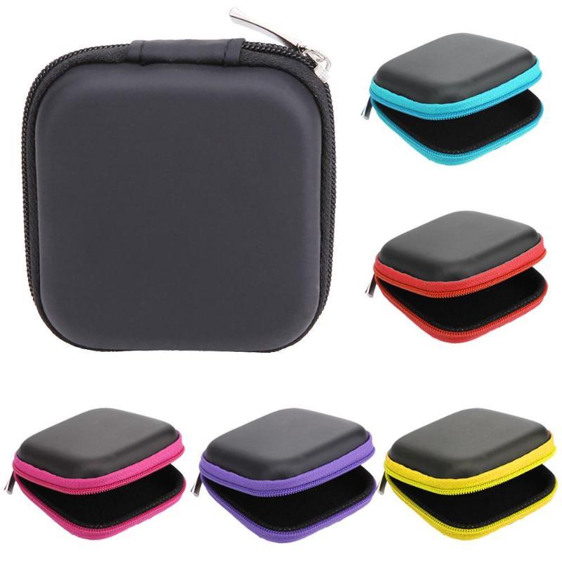 80*80*30mm EVA Bag Box Portable Earphone Accessories Carrying Bags Earphone Bag Case Zipper Earbuds Headset Headphone Storage