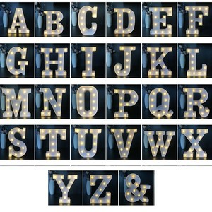 Image 4 - 16CM LED Letter Night Light Light Alphabet Battery Home Culb Wall Decoration Party Wedding Birthday Decor Valentines Day Gift