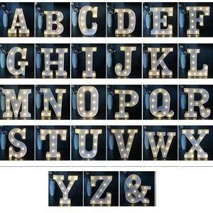 Image 4 - Veilleuse veilleuse avec lettres LED CM, décoration murale, batterie, décoration murale pour maison, fête, anniversaire, mariage, cadeau de saint valentin