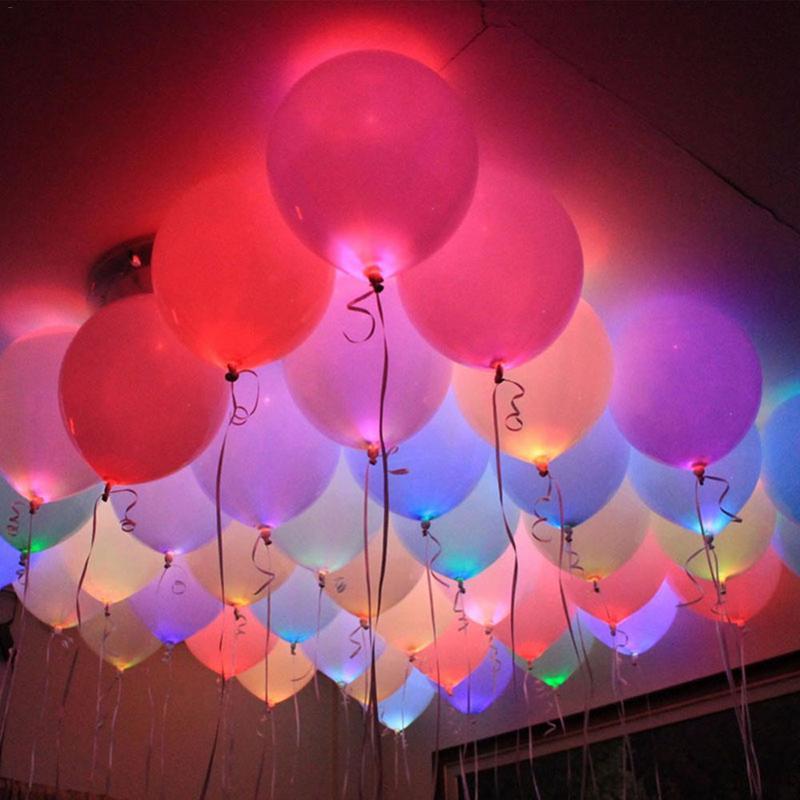 50 PCS LED Balão Luz Mini Luz Festival Festa de Casamento do Dia Das Bruxas Natal Ferramentas de Decoração Para Casa Decor Wedding (6 Cores)