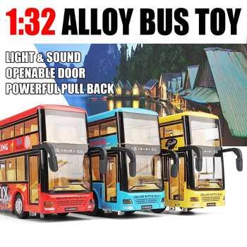 Simulación 32 Puerta Y Bus Coche Tour 1 Abierta Dos Turismo Intermitente Niños Juguetes Animados De Modelo Dibujos Luz Sonido Pisos 9IDE2H